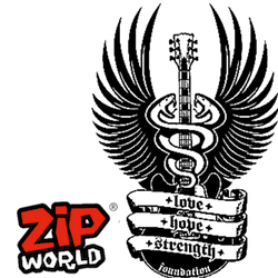 Zip World and Love Hope Strength Foundation logos